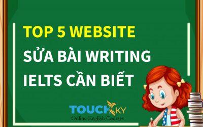 TOP 5 WEBSITE SỬA BÀI WRITING TRONG IELTS BẠN CẦN BIẾT